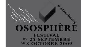 Référence festival Ososphère Strasbourg